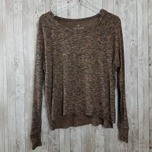 American Eagle Soft & Sexy Plush Marled Top